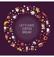 Flyer of modern flat design coffee-shop cafe and vector image vector image