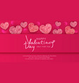 for valentines day background vector image vector image