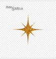 gold decorative star for design vector image