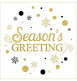 gold seasons greetings card design vector image vector image