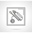 Golf bag flat line icon vector image vector image