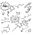 hand drawn doodle comic element isolated vector image vector image