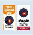 happy halloween invitation design with eye ball vector image