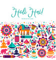 happy holi elements for card design happy vector image vector image