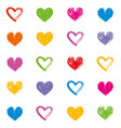hearts love theme valentines day seamless pattern vector image vector image