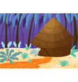 hut in nature vector image vector image
