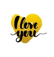 I Love You Calligraphy Card vector image vector image