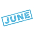 June Rubber Stamp vector image vector image