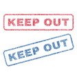 keep out textile stamps vector image vector image