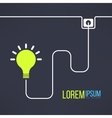 Light bulb background in simple flat design vector image