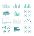 linear charts graphs and progress bar vector image