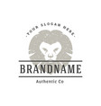 lion hand drawn logo isolated on white background vector image