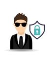 man in suit icon vector image vector image