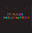 merry christmas colorful letters banner template vector image vector image