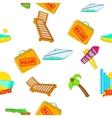 Miami city pattern cartoon style vector image vector image