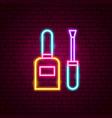 nail polish neon sign vector image vector image