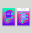 neon gemstone artistic cover design fluid vector image