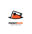 pocket book logo vector image