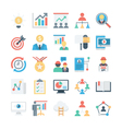 Project Management Colored Icons 1 vector image