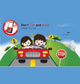Safety Driving Sign vector image vector image