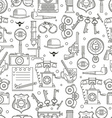 Seamless pattern detective icons vector image
