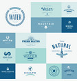 set flat design signs for water vector image vector image