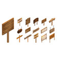 signpost icon set isometric style vector image vector image