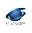 solar system sphere motion logo concept design 3d vector image