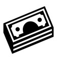 stack money icon simple style vector image