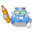 student police car in the shape character vector image