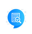 survey report or search in data icon vector image vector image