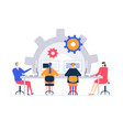 technical support - flat design style colorful vector image vector image