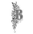 vintage drawing decorative capital letter b