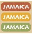 Vintage Jamaica stamp set vector image vector image
