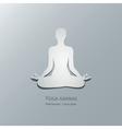 Yoga asanas Padmasana Lotus pose vector image