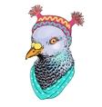 fashion bird animal anthropomorphic vector image