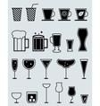glasses for drinks vector image