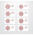 Set of business card templates mehndi design vector image