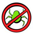 no computer virus prohibition sign icon cartoon vector image