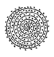 Floral spiral ornament hand drawn sketch for your vector image