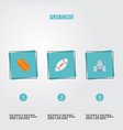 set of usa icons flat style symbols with capitol vector image