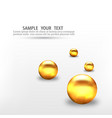 3d gold geometric balls abstract geometric vector image vector image