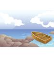 a boat in sea vector image vector image