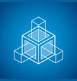 abstract 3d geometric shape polygonal figure vector image vector image