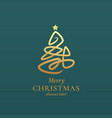 abstract christmas tree sign emblem vector image vector image