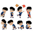 all of kids different pose about learningback to vector image vector image
