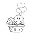 baby shower cartoon vector image vector image