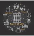 black banner winemaking - barrel wine vector image vector image