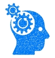 Brain Gears Rotation Grainy Texture Icon vector image vector image