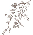 Branches design decorative romantic vector image vector image